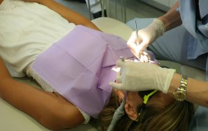 working on dental crowns